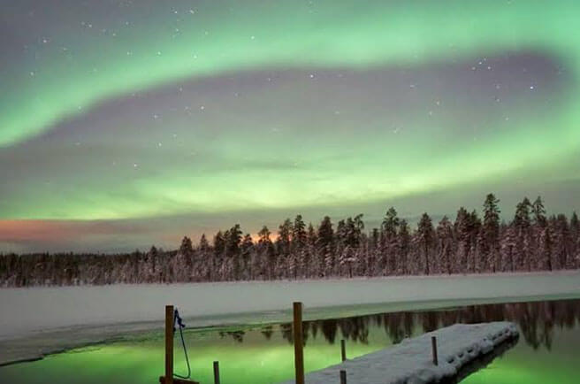 See the Aurora in Europe in winter